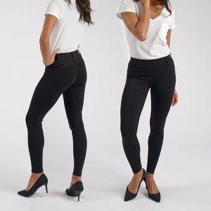 Betabrand Black Skinny Leg Classic Yoga Dress Pants